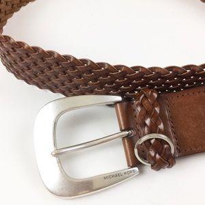 Michael Kors Woven Leather Belt